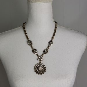 J Crew : Star Burst Bronze Statement Necklace